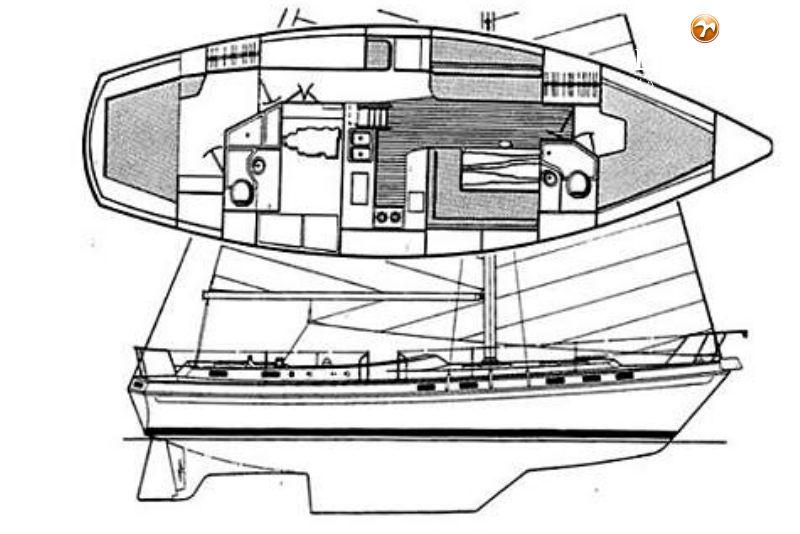 morgan 41 classic sailing yacht for sale de valk yacht. Black Bedroom Furniture Sets. Home Design Ideas